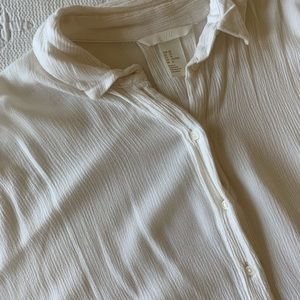 H&M boxy white button-up